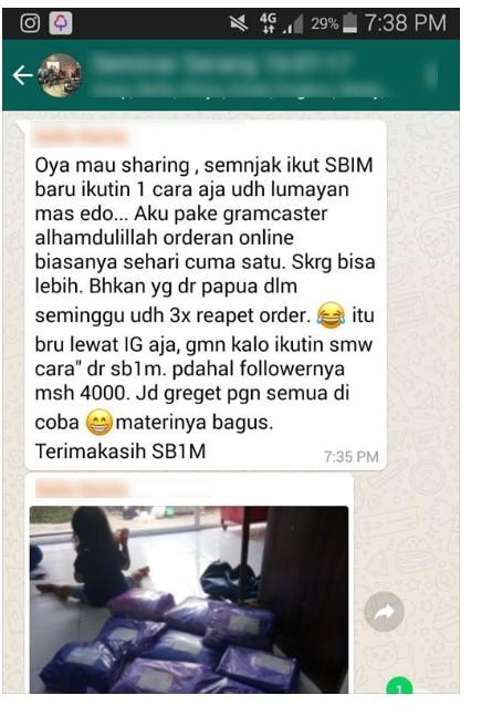 Testimoni Member SB1M
